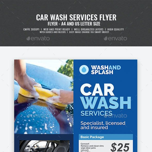 Car Wash Services Promotional Flyer