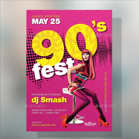 90's Party Flyer