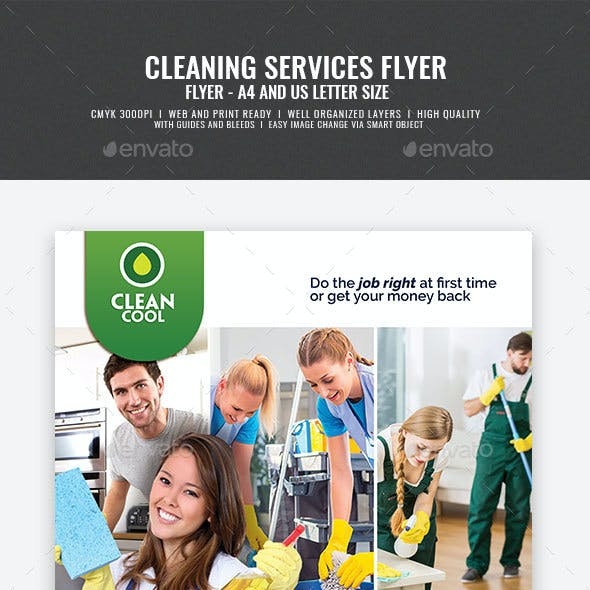 Household Cleaning Service Company Flyer