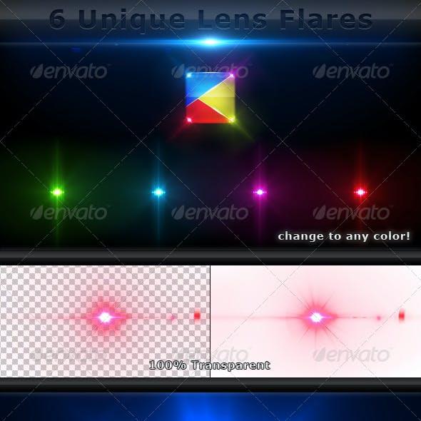 6 Unique Lens Flares - Light Effects -6-
