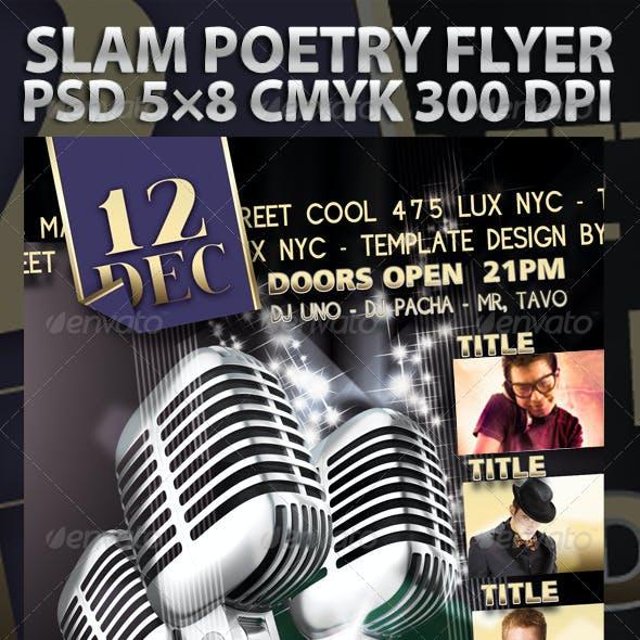 Slam Poetry Flyer