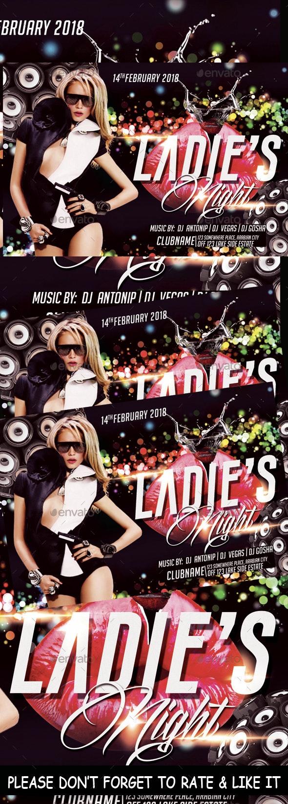 Ladies Night Flyer - Flyers Print