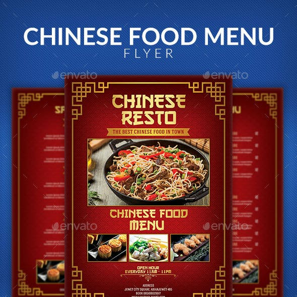 Chinese Food Menu