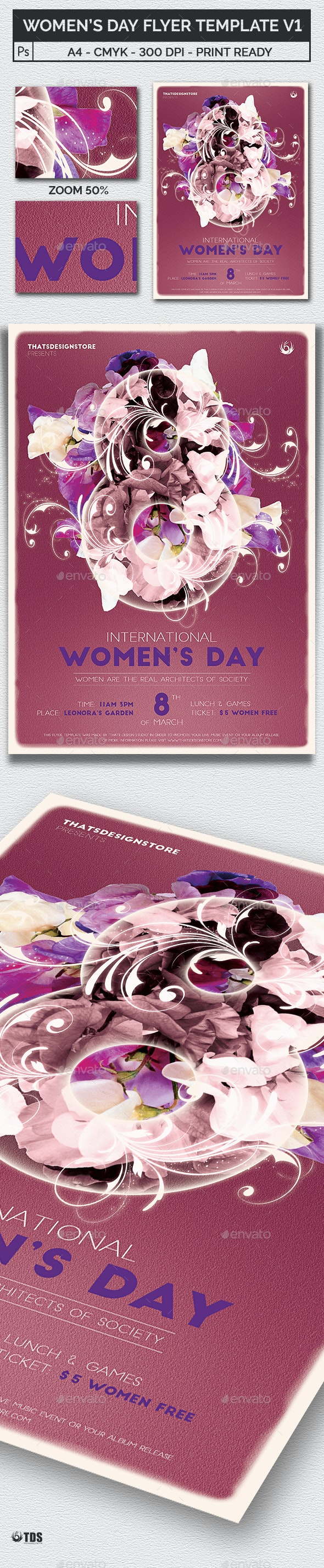 Womens Day Flyer Template V1 - Holidays Events