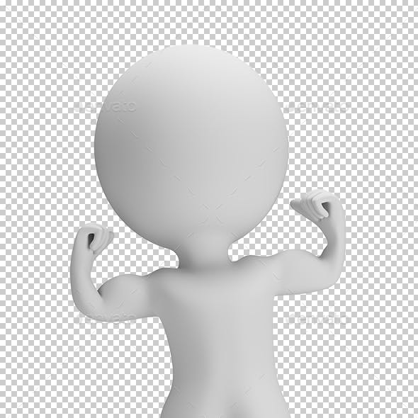 3D Small People - Shows Muscles