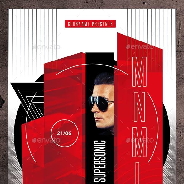 Minimal DJ Flyer