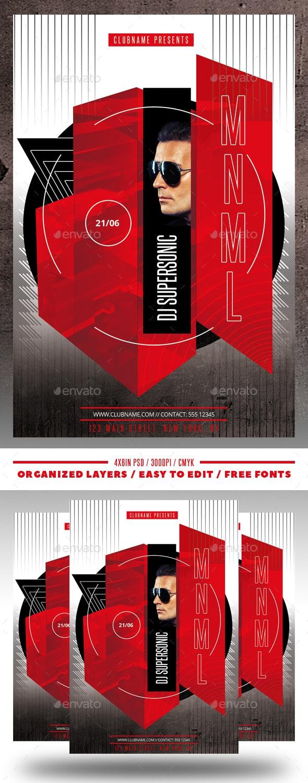 Minimal DJ Flyer - Flyers Print Templates