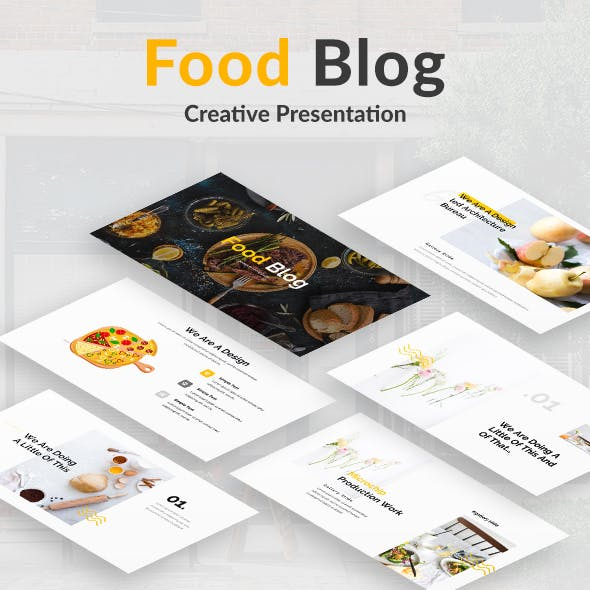 Food Blog Powerpoint Template
