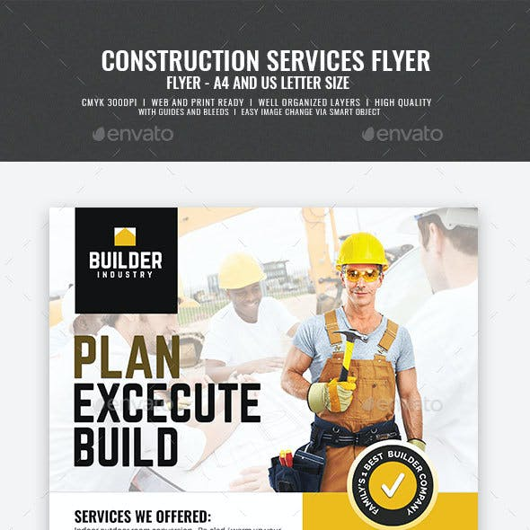 Construction and Engineering Service Flyer