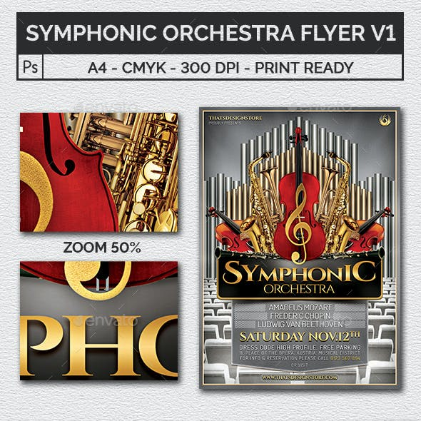 Symphonic Orchestra Flyer Template V1