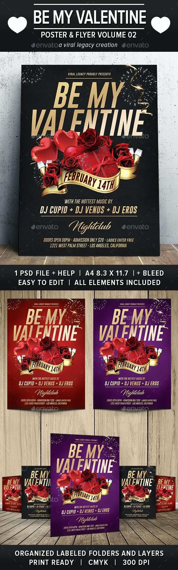 Be My Valentine Poster / Flyer V02 - Events Flyers
