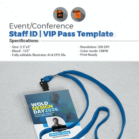 Conference/Event VIP Pass ID Template