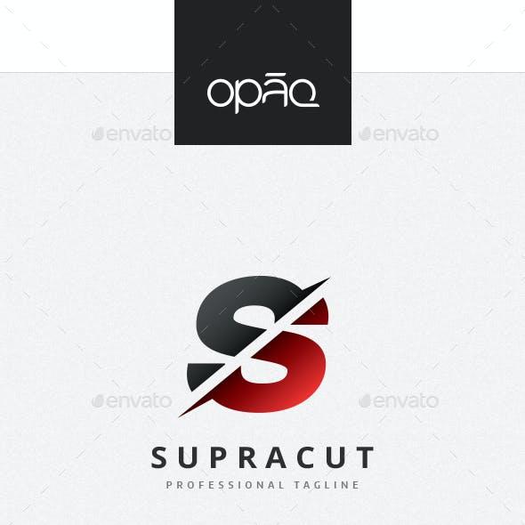 Cut S Letter Logo