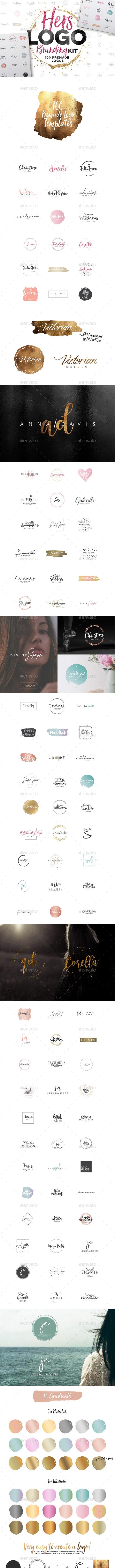 Hers Logo Branding Kit - Badges & Stickers Web Elements