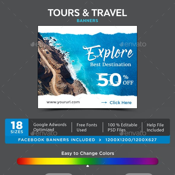 Tours & Travel Banner Set