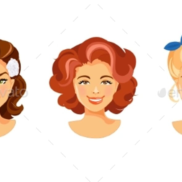 Female Hairstyle Retro