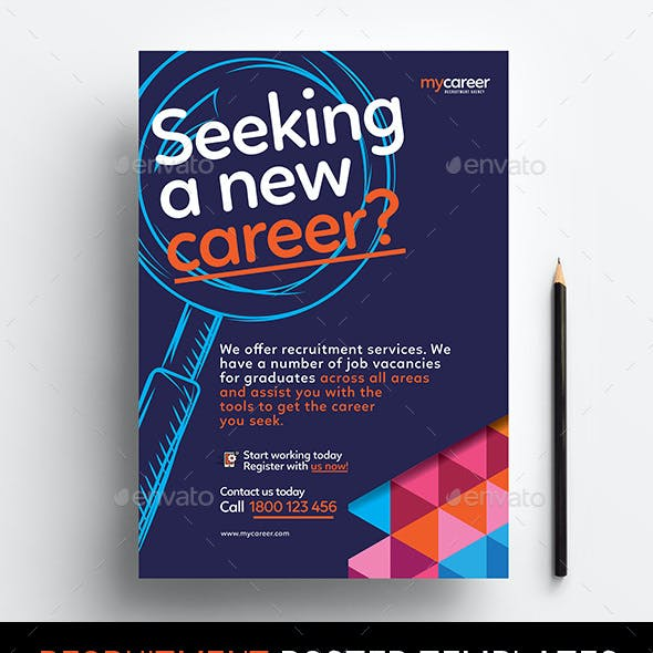Recruitment Agency Poster Templates