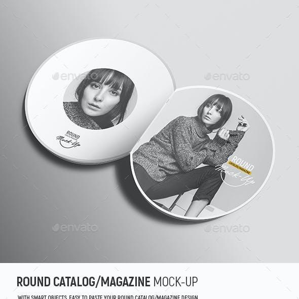 Round Catalog/Magazine Mock-Up