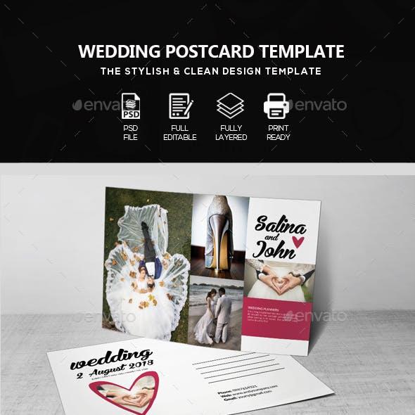 Wedding Invitaion Postcard