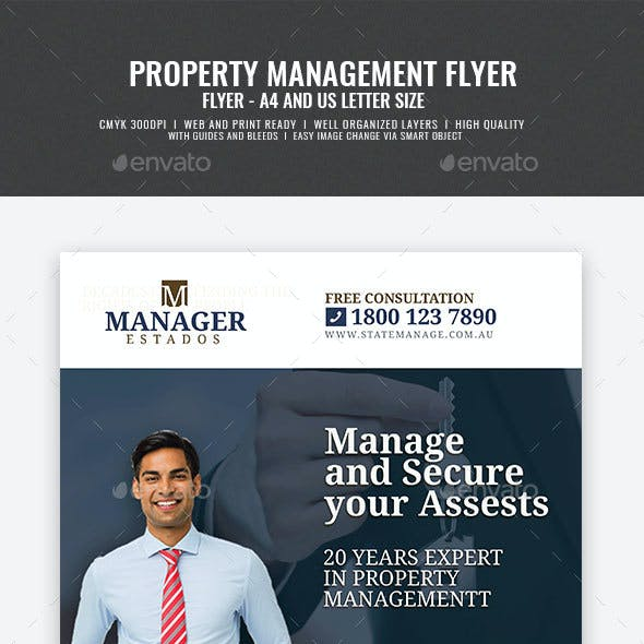 Property Management and Real Estate Flyer