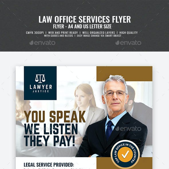 Law Firm and Legal Services Flyer