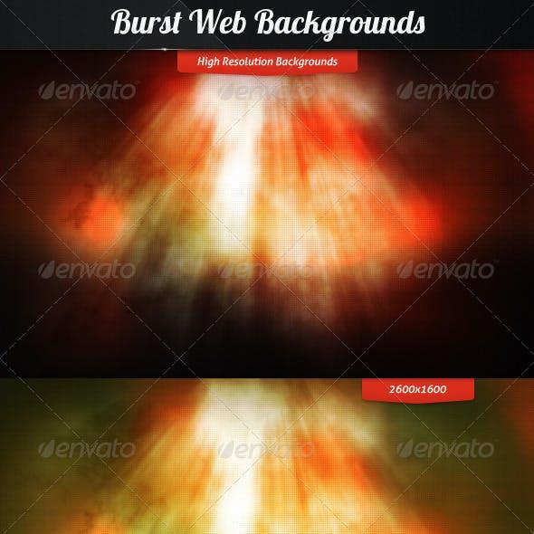 Burst Web Backgrounds