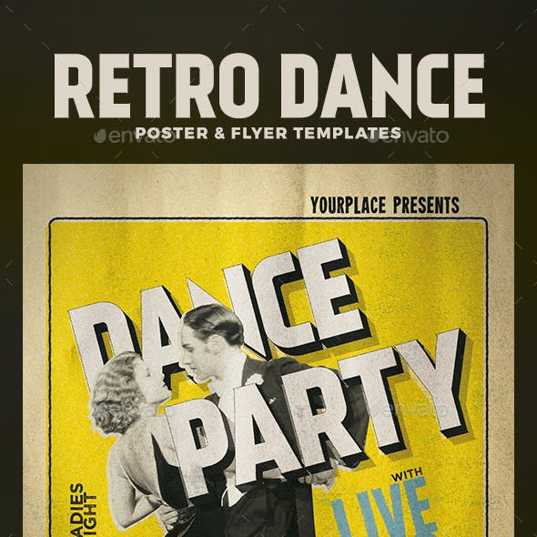 Retro Dance Flyer and Poster Template