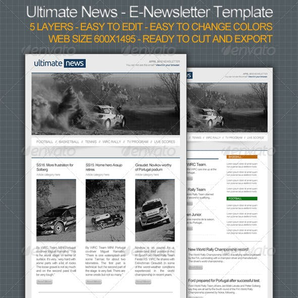 Ultimate News - E-Newsletter Template