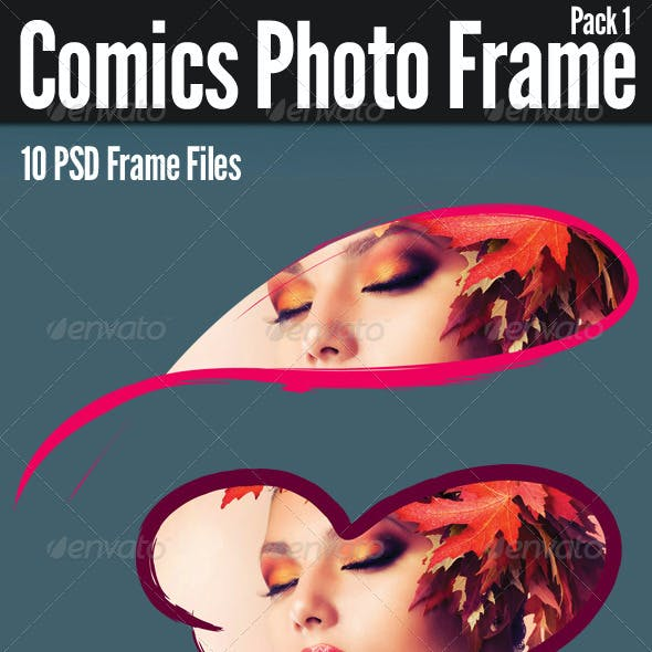 Comics Photo Frame Pack 1