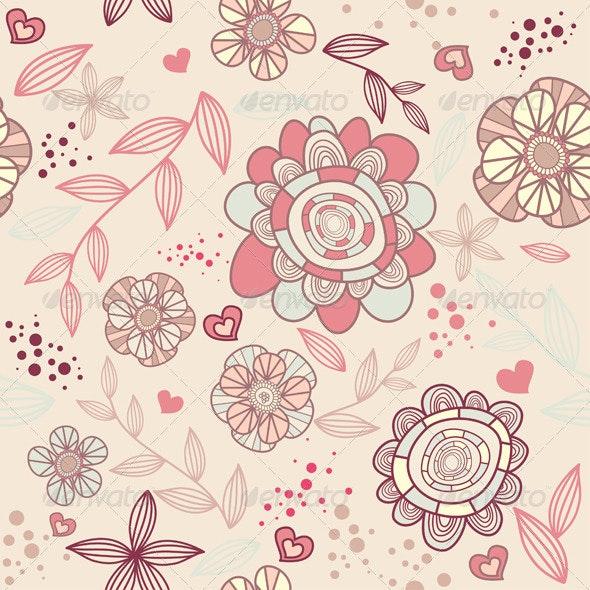 Seamless Floral Wallpaper - Patterns Decorative