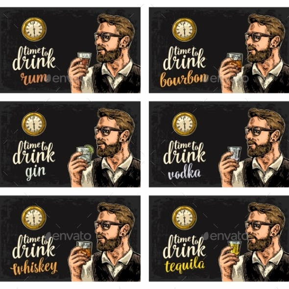 Hipster Holding Alcohol Drinks