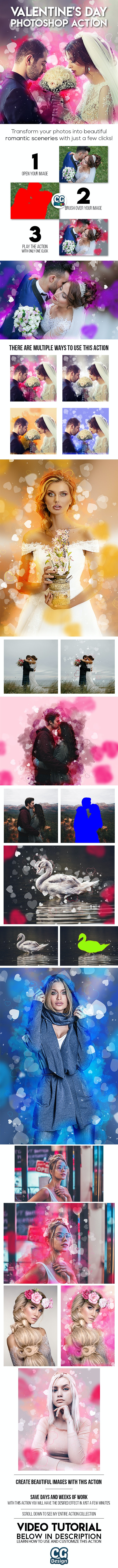 Valentine's Day Photoshop Action - Photo Effects Actions