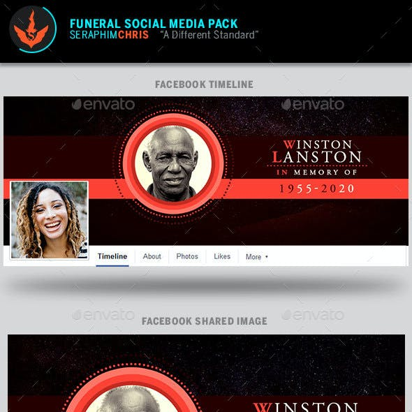 King Funeral Social Media Template Pack