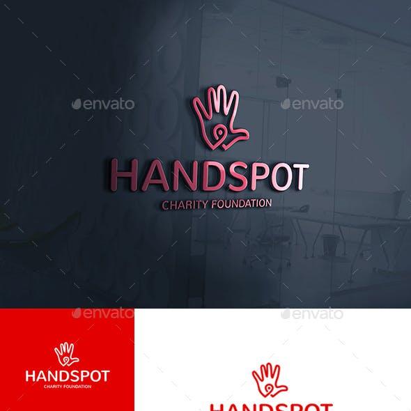 Hand Spot Point Locator Logo