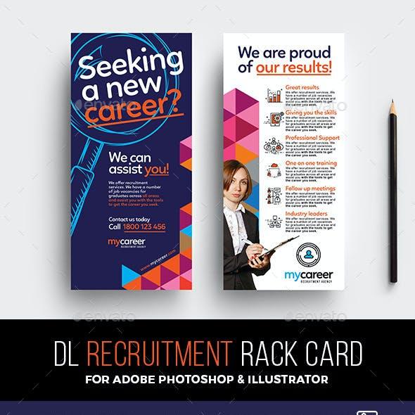 DL Recruitment Agency Rack Card Template