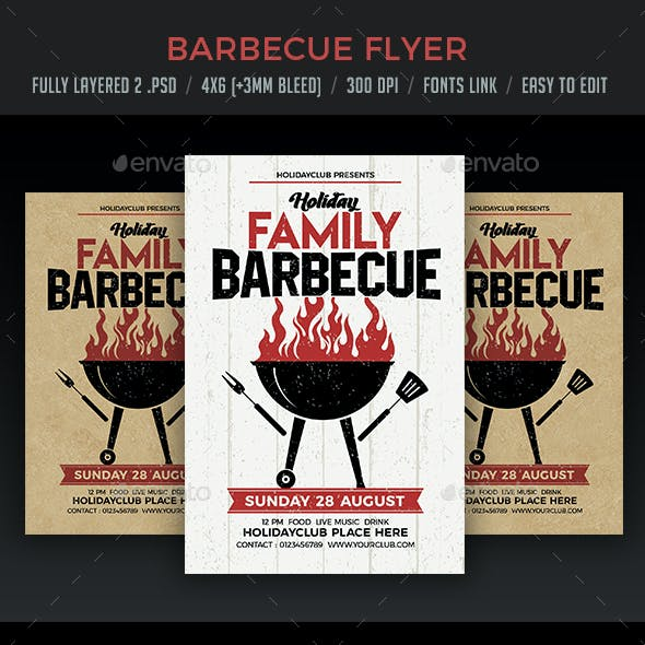 Holiday Family Barbecue Flyer