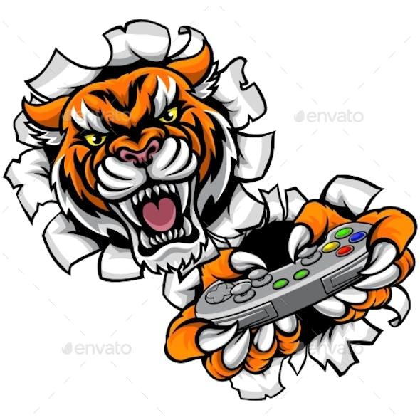 Tiger Esports Gamer Mascot