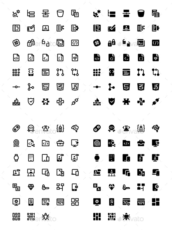 136 Web & Mobile Development Icons
