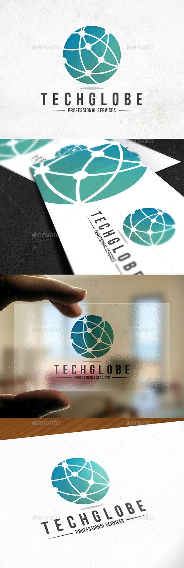 Tech Globe Logo Template