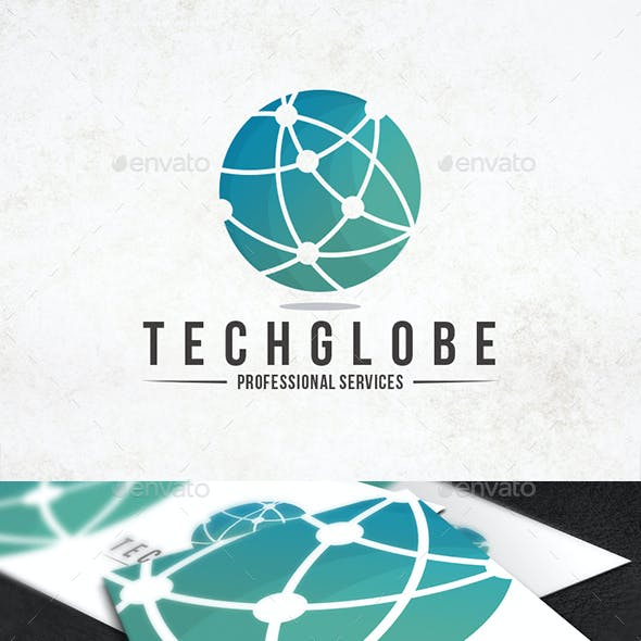 Tech Globe Logo Template