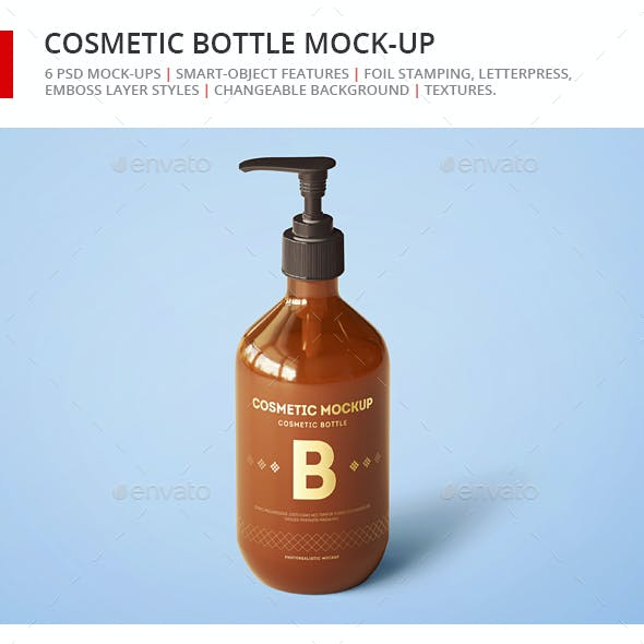 Cosmetic Bottle Mock-up - Dispenser Bottle