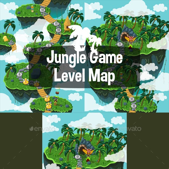 Level Map Backgrounds Jungle