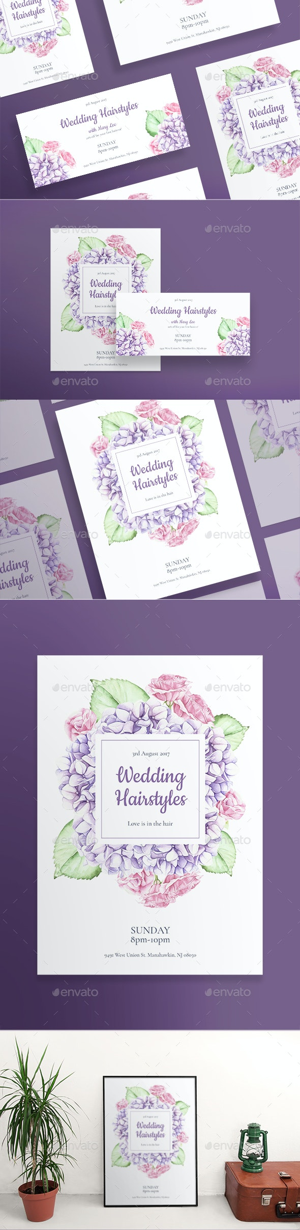 Wedding Hairstyles Flyers - Holidays Events