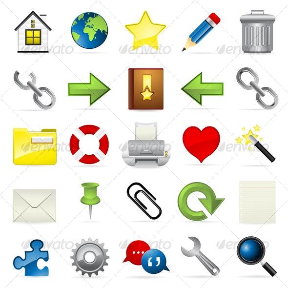 Meloti Icon Series - Internet & blogging - Web Icons