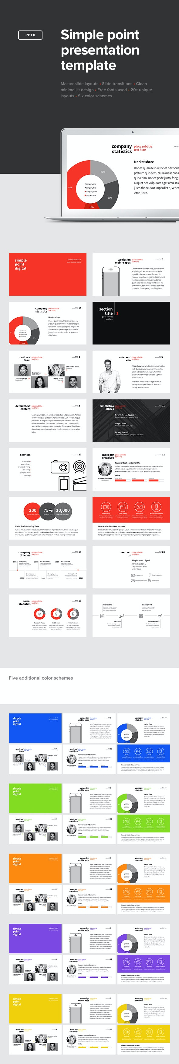 Simple Point Presentation Template - PowerPoint Templates Presentation Templates