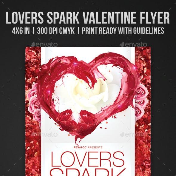 Lovers Spark Valentine Flyer