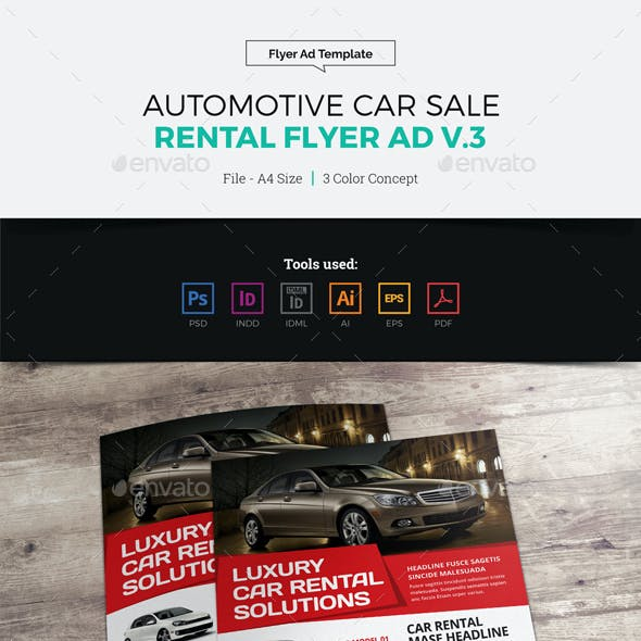 Automotive Car Sale Rental Flyer Ad v3