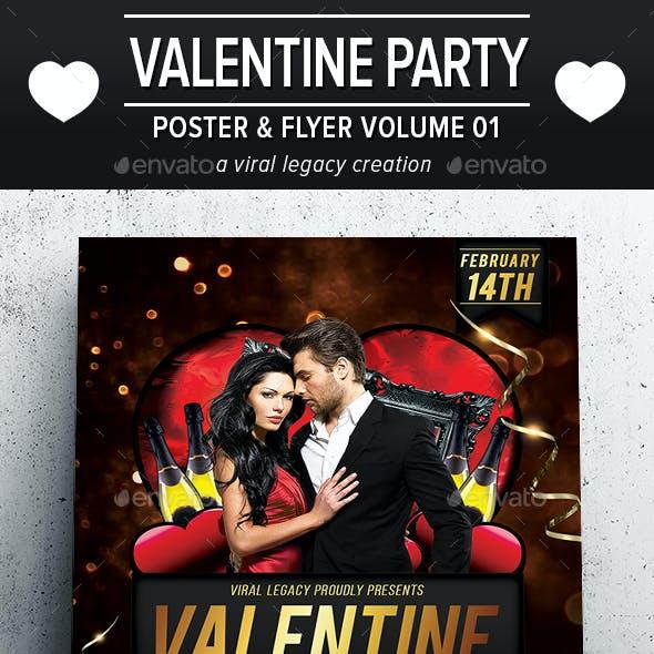 Valentine Party Poster / Flyer V01