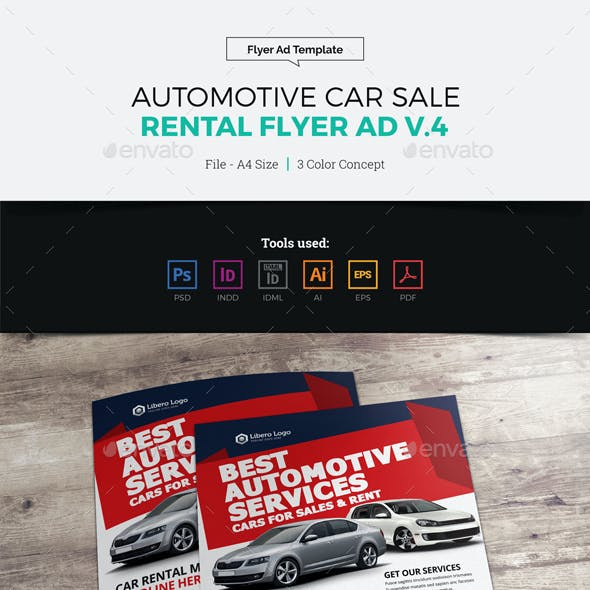 Automotive Car Sale Rental Flyer Ad v4