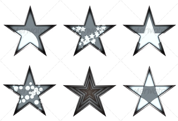 lighting stars - Decorative Vectors